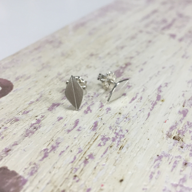 Little Silver Leaf Stud Earrings