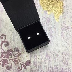 Small Silver Triangle Stud Earrings