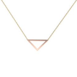 Triangle Outline Pendant in Rose