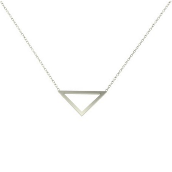 Silver Triangle Outline Pendant