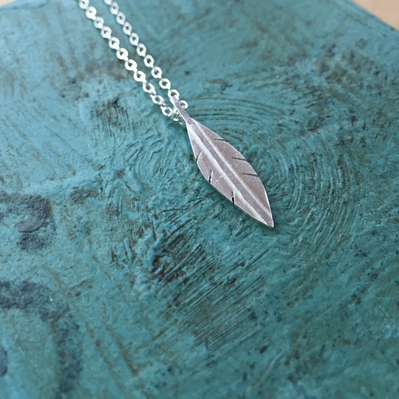 Little Silver Feather Pendant