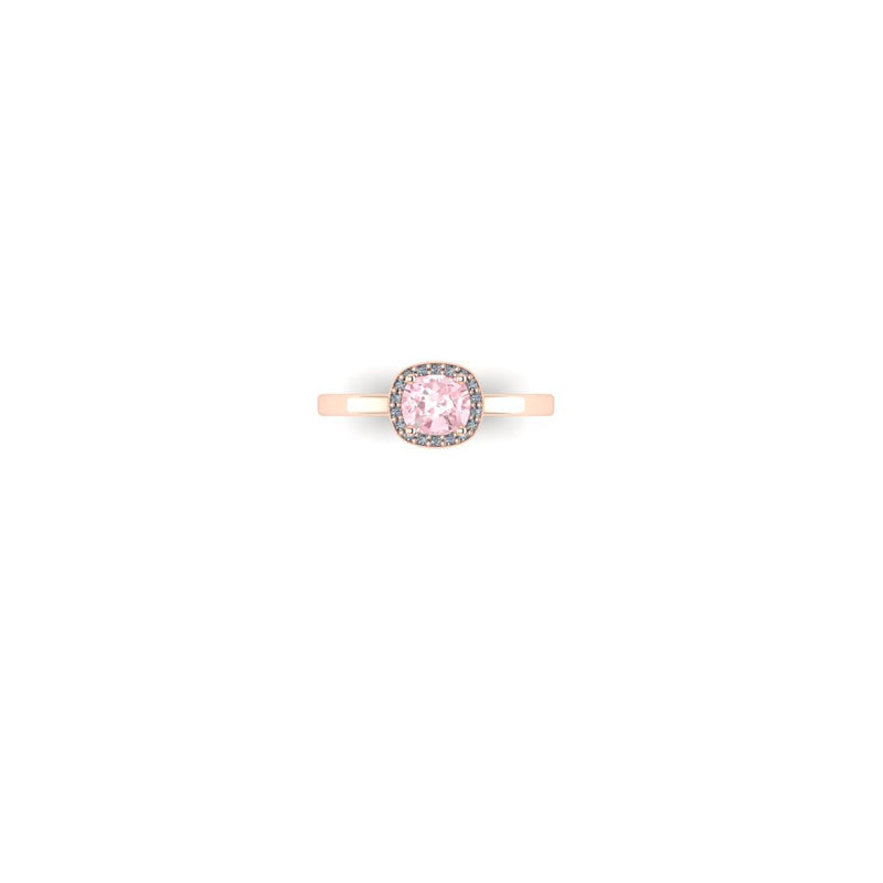 Pink Sapphire Halo in Rose