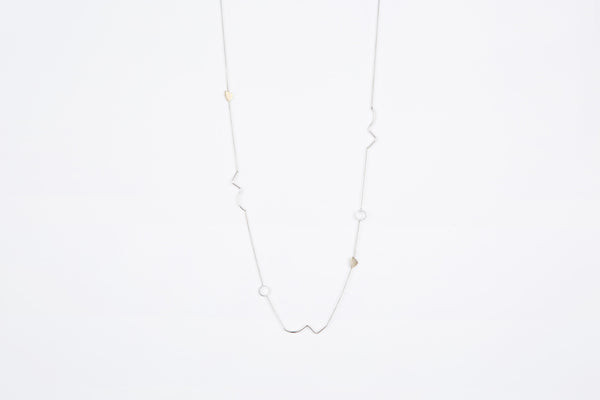 Foliage necklace long