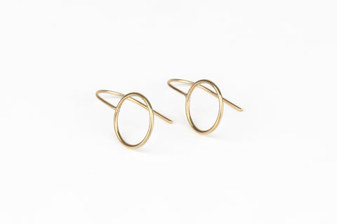 Thin Line Void earrings