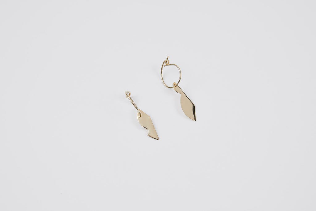 Kite hoop earrings