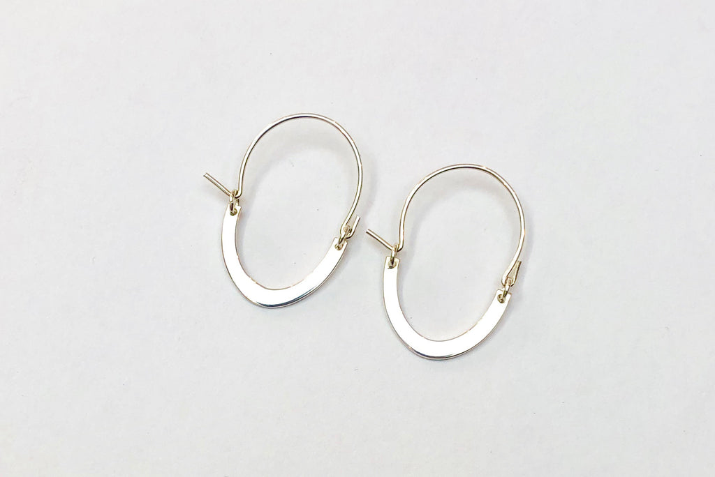 Small Oval Hoops