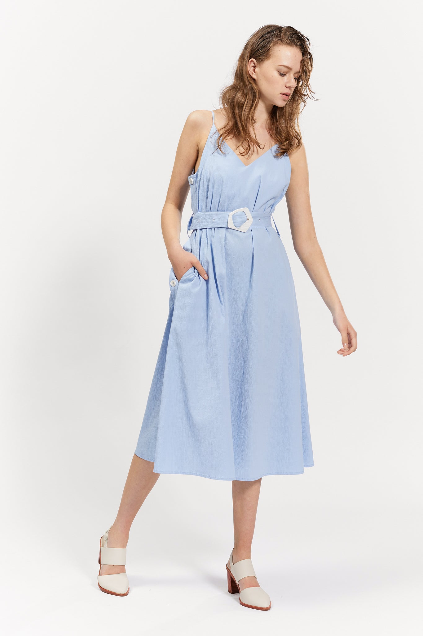 agnes dress light blue