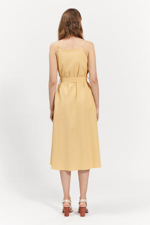 agnes dress yellow