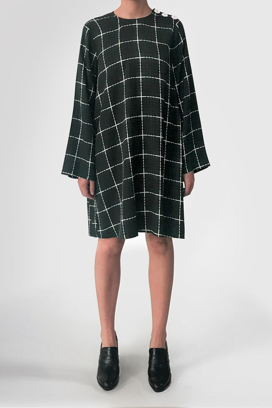 aisoi dress green check