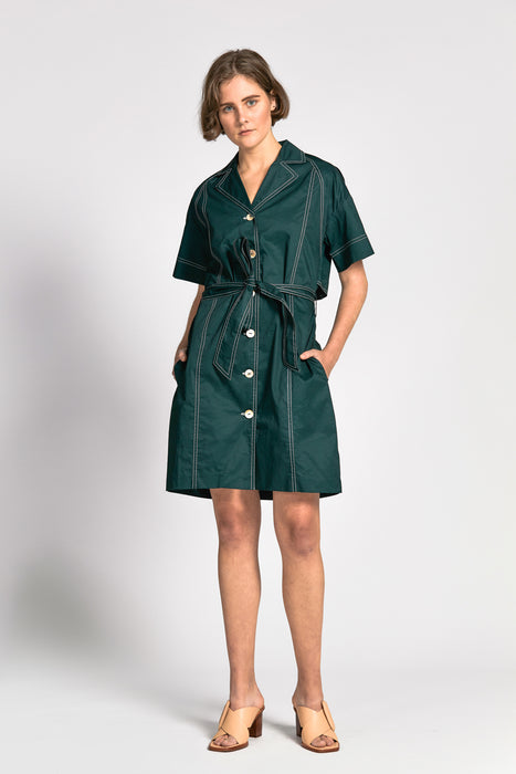 an dress dark green