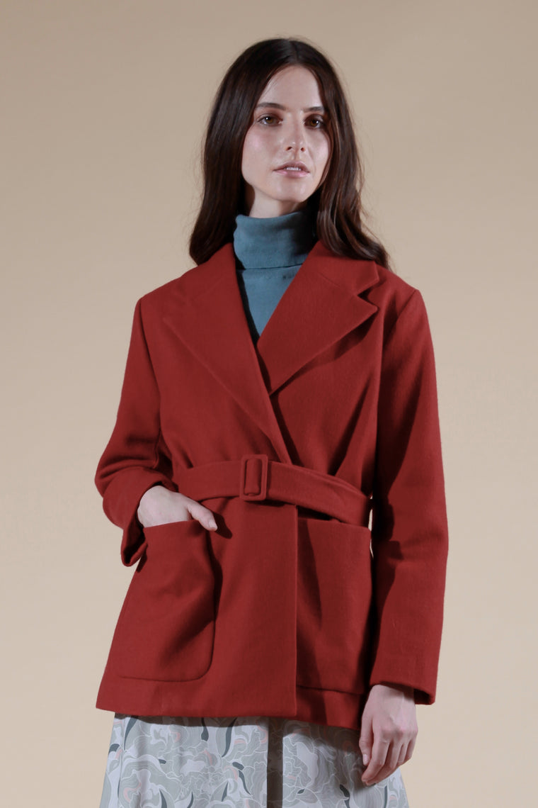 babord coat red
