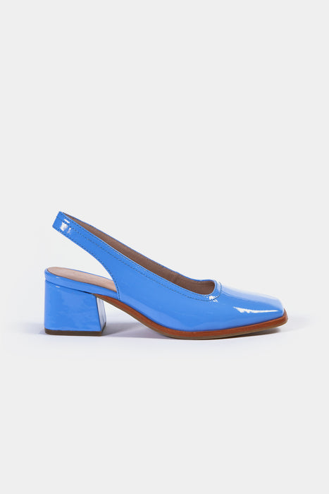 bach heel bright blue