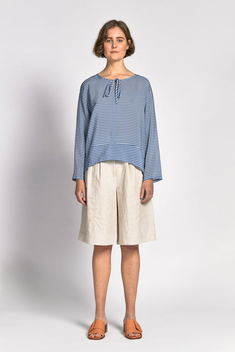 bao top blue stripe