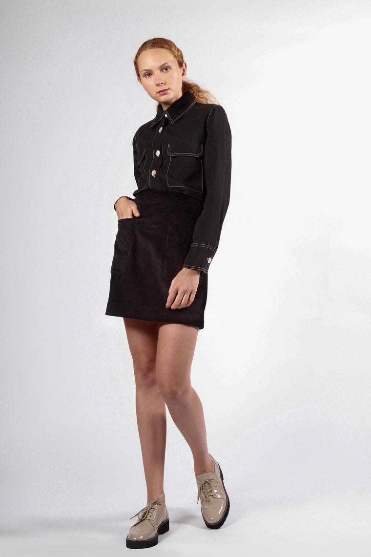 battery skirt black