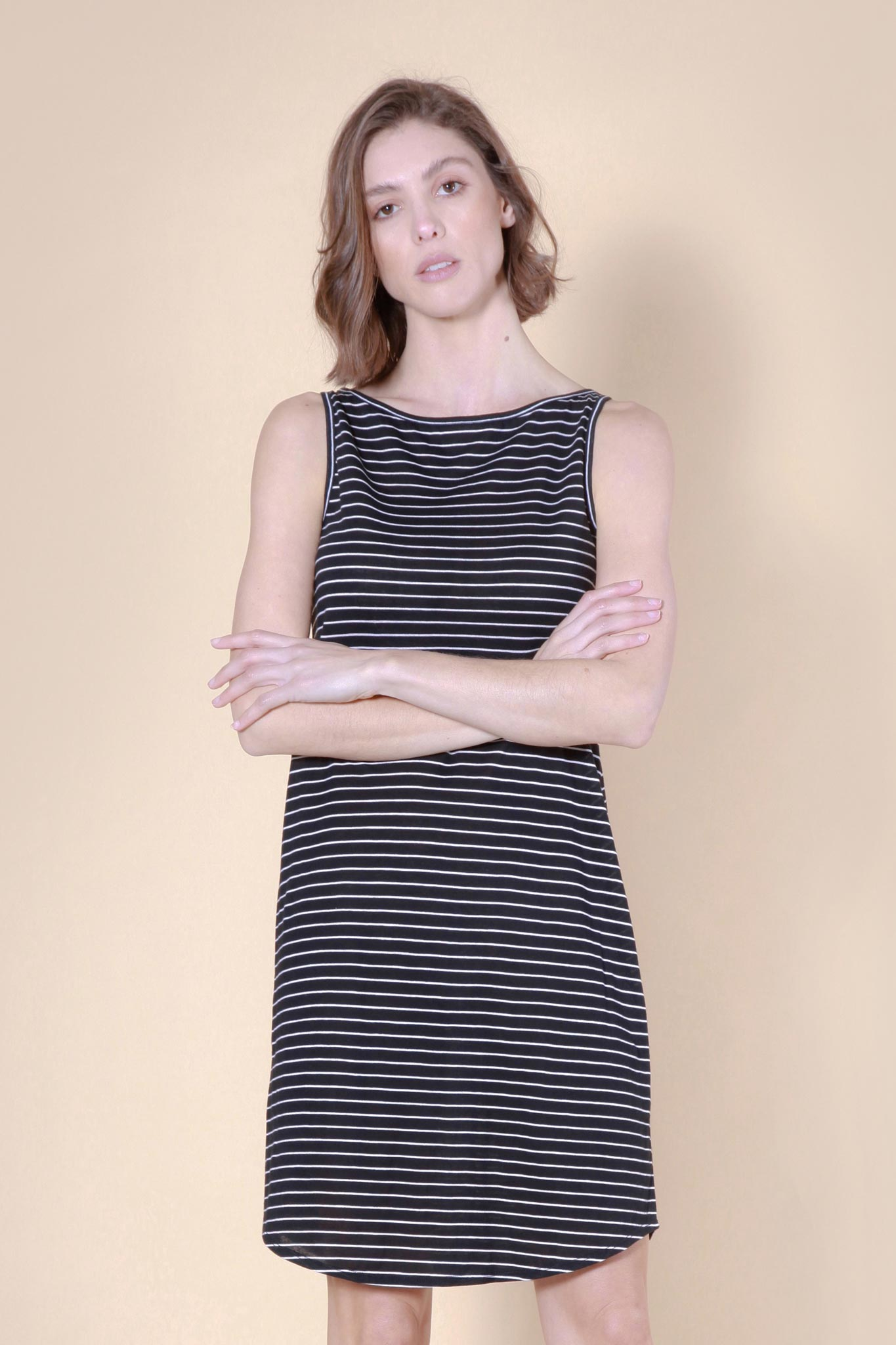 blackrocks dress black/white stripe