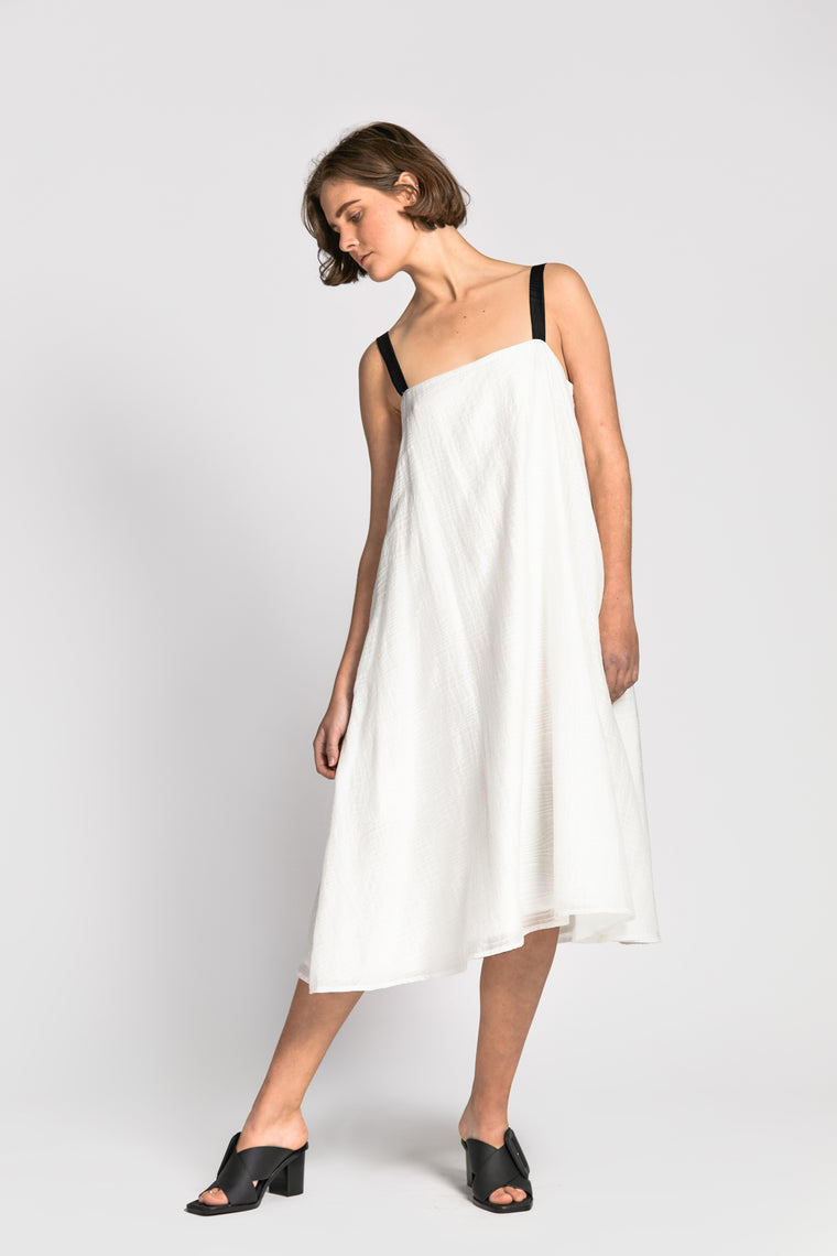 bon dress white/black