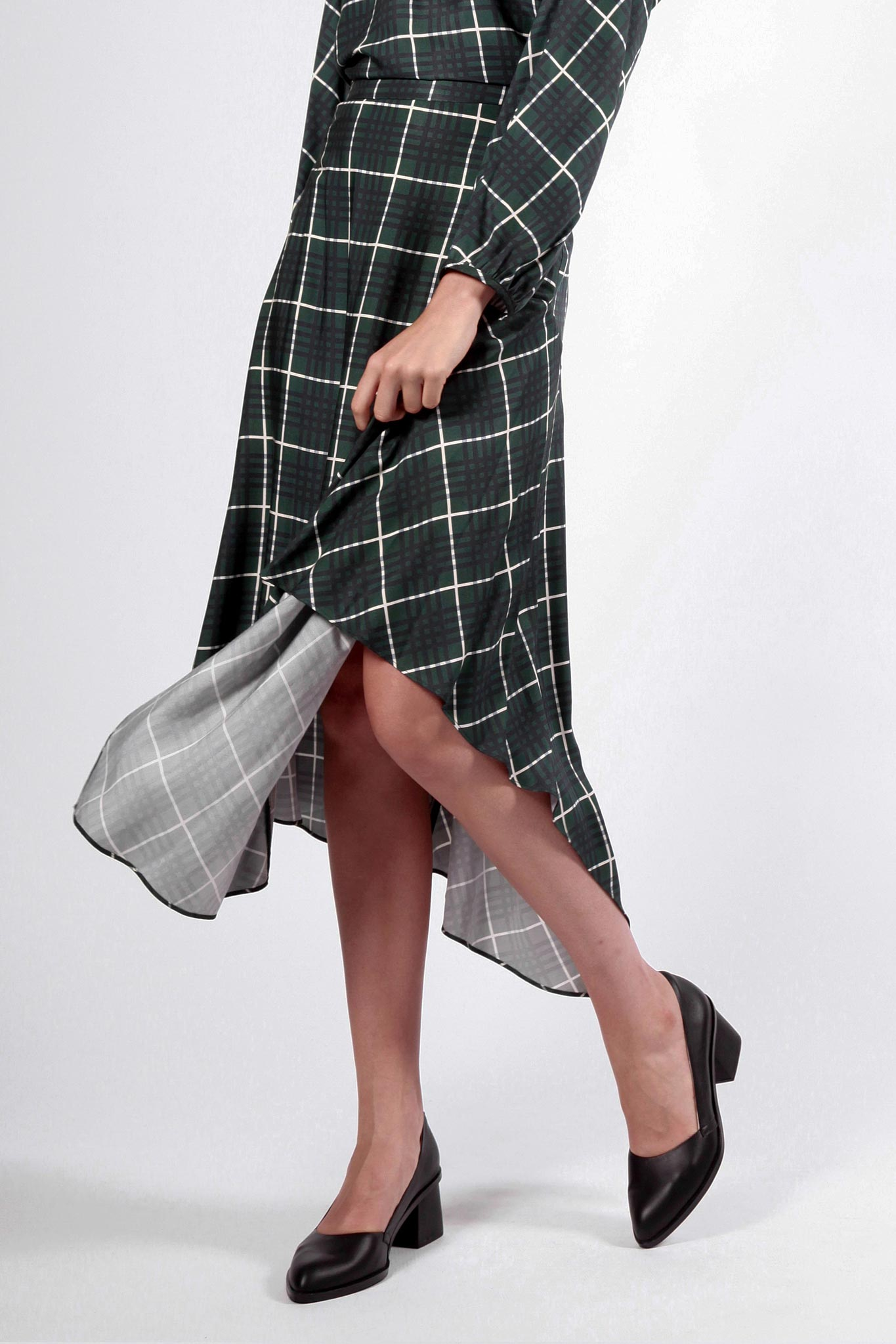 bonorong skirt green check