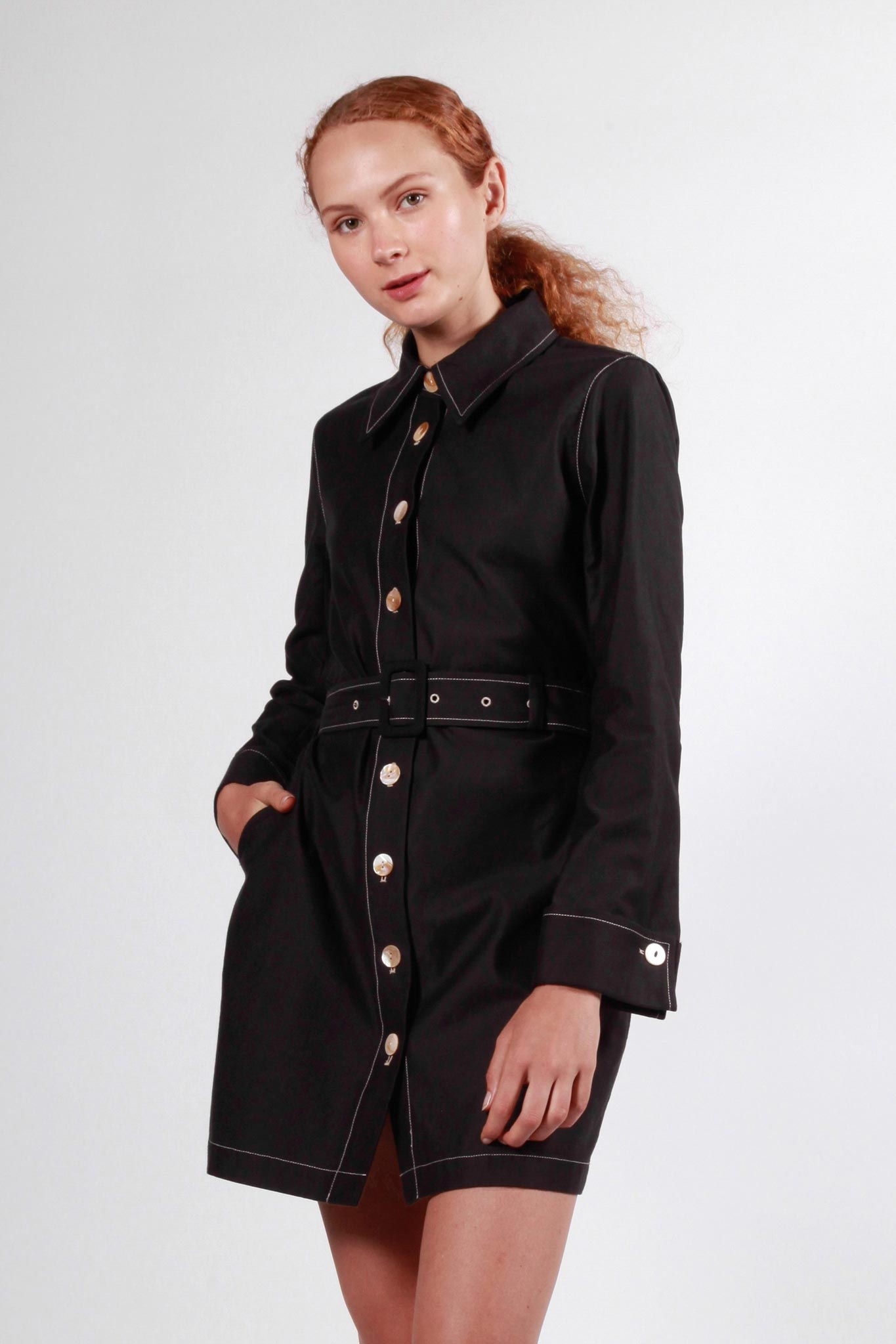 bowden dress black
