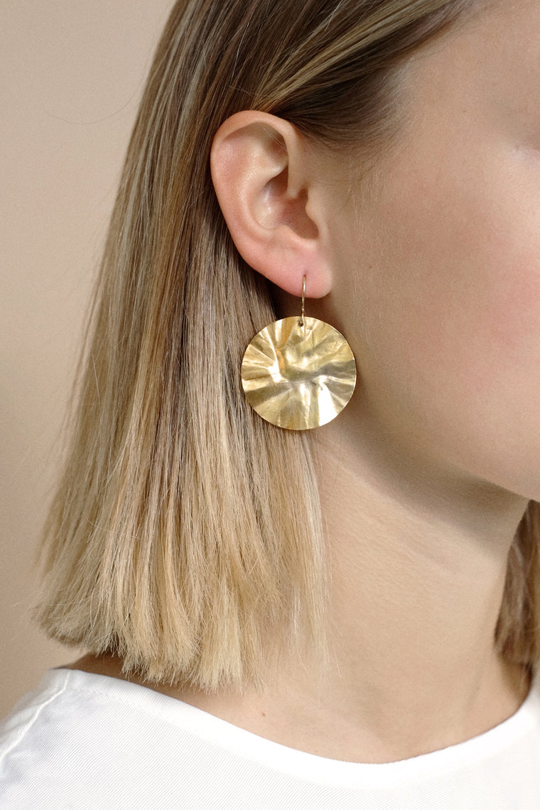 callistemon earring gold