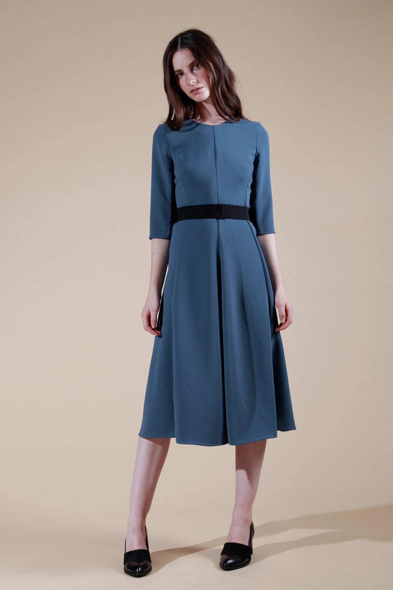 chaumont dress dark blue