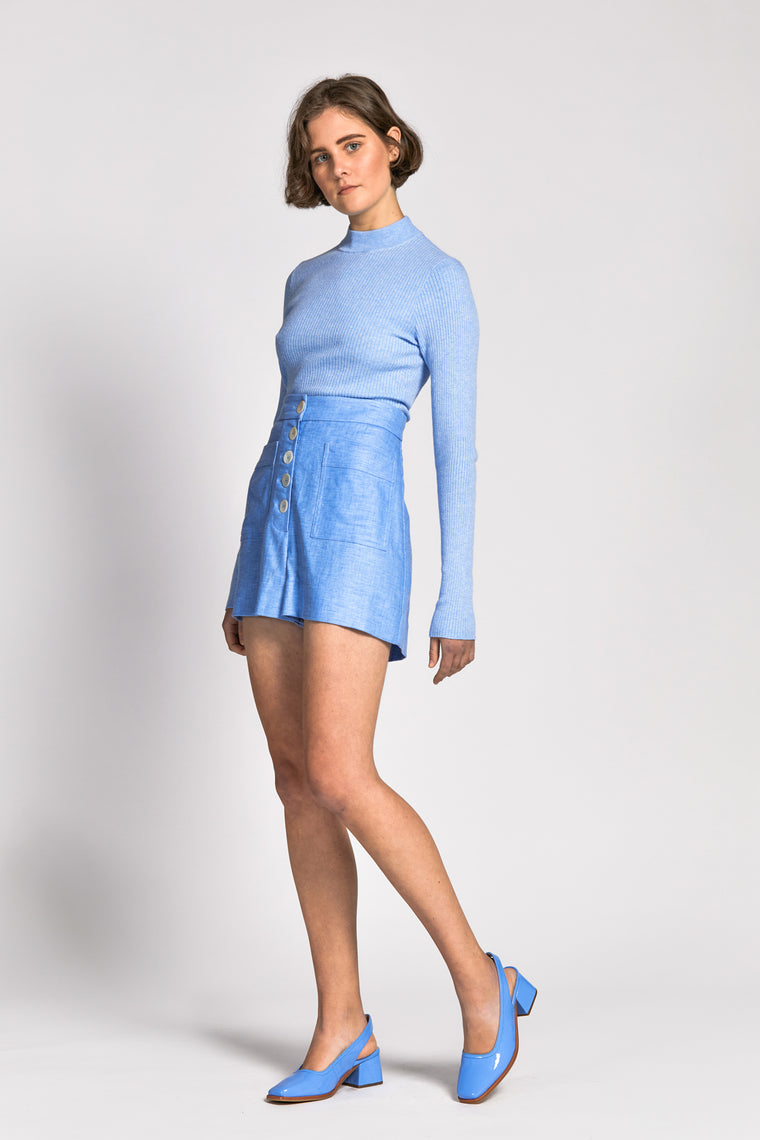 chay top light blue