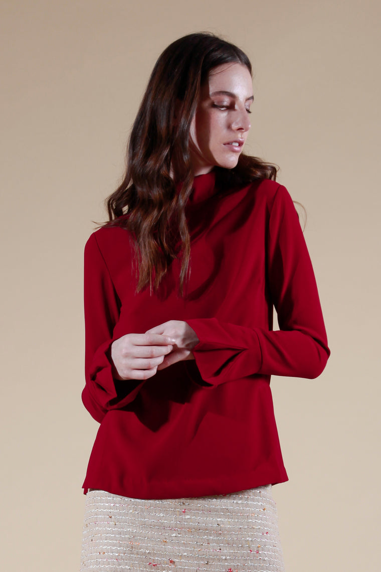 cheret top deep red