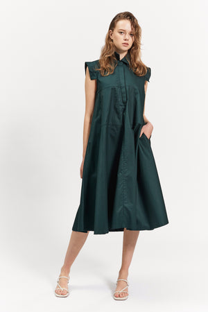 clare dress dark green