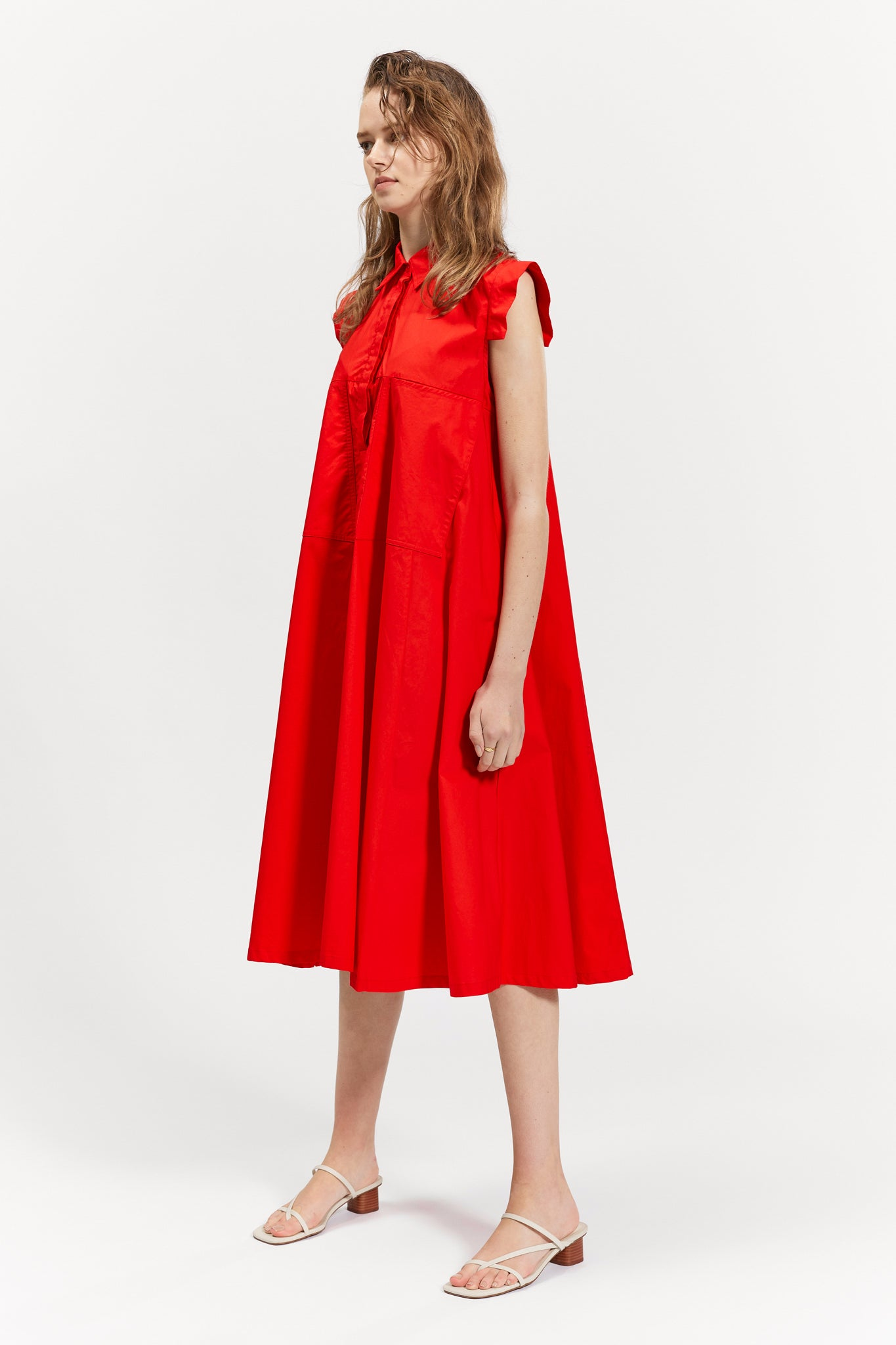 clare dress red