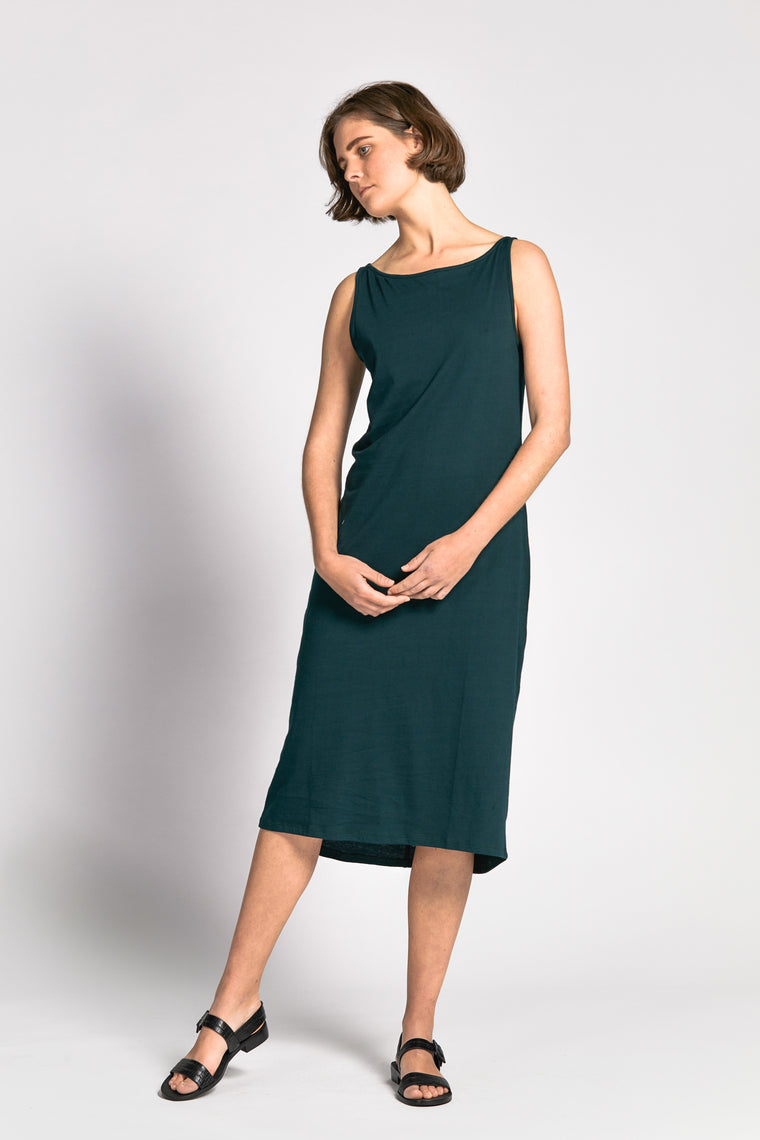 cove dress dark green