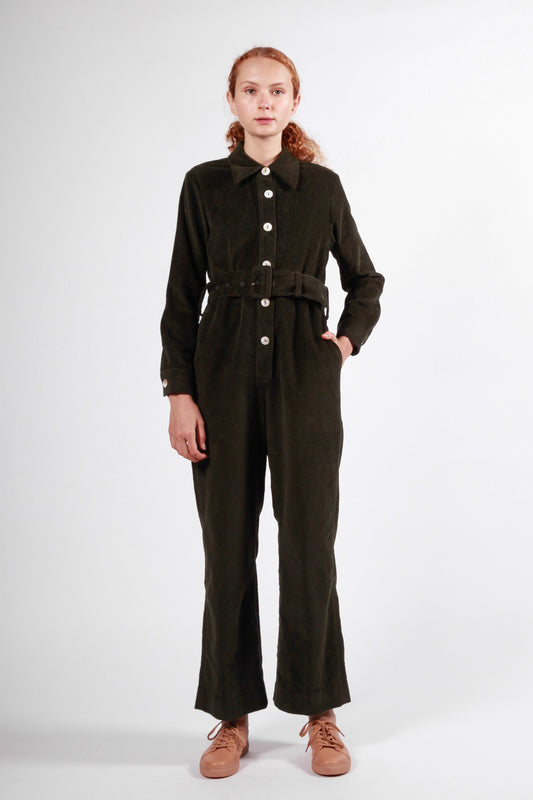 davey onesie dark green