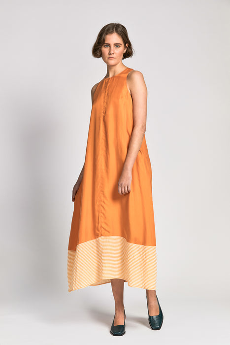 dinesha dress marigold/yellow stripe