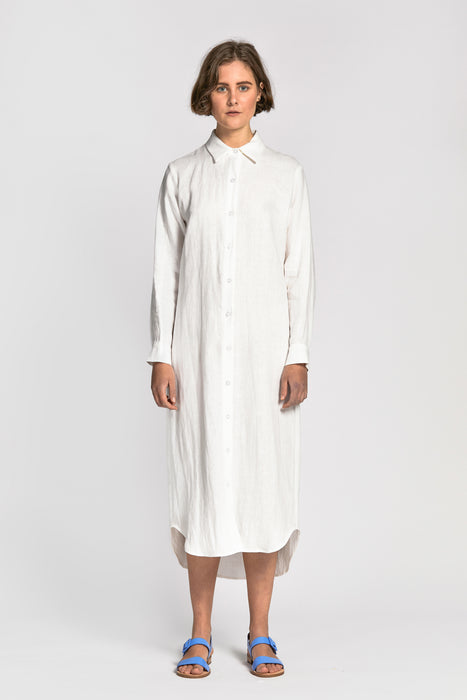 dinh dress white
