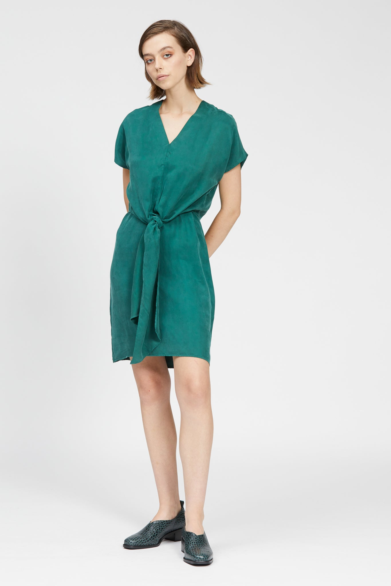 fiume dress dark green