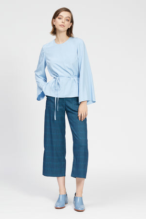 fraina top light blue