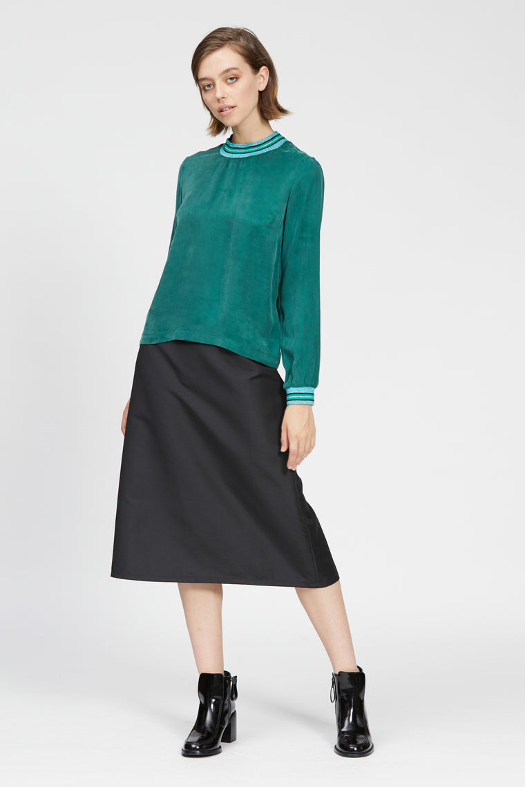 ghedina top dark green