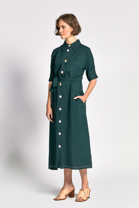 ian dress dark green