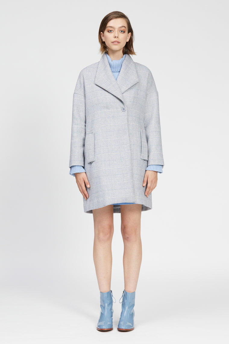 inverno coat blue check