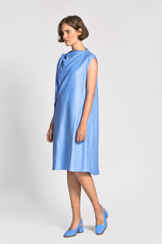 khan dress ocean blue