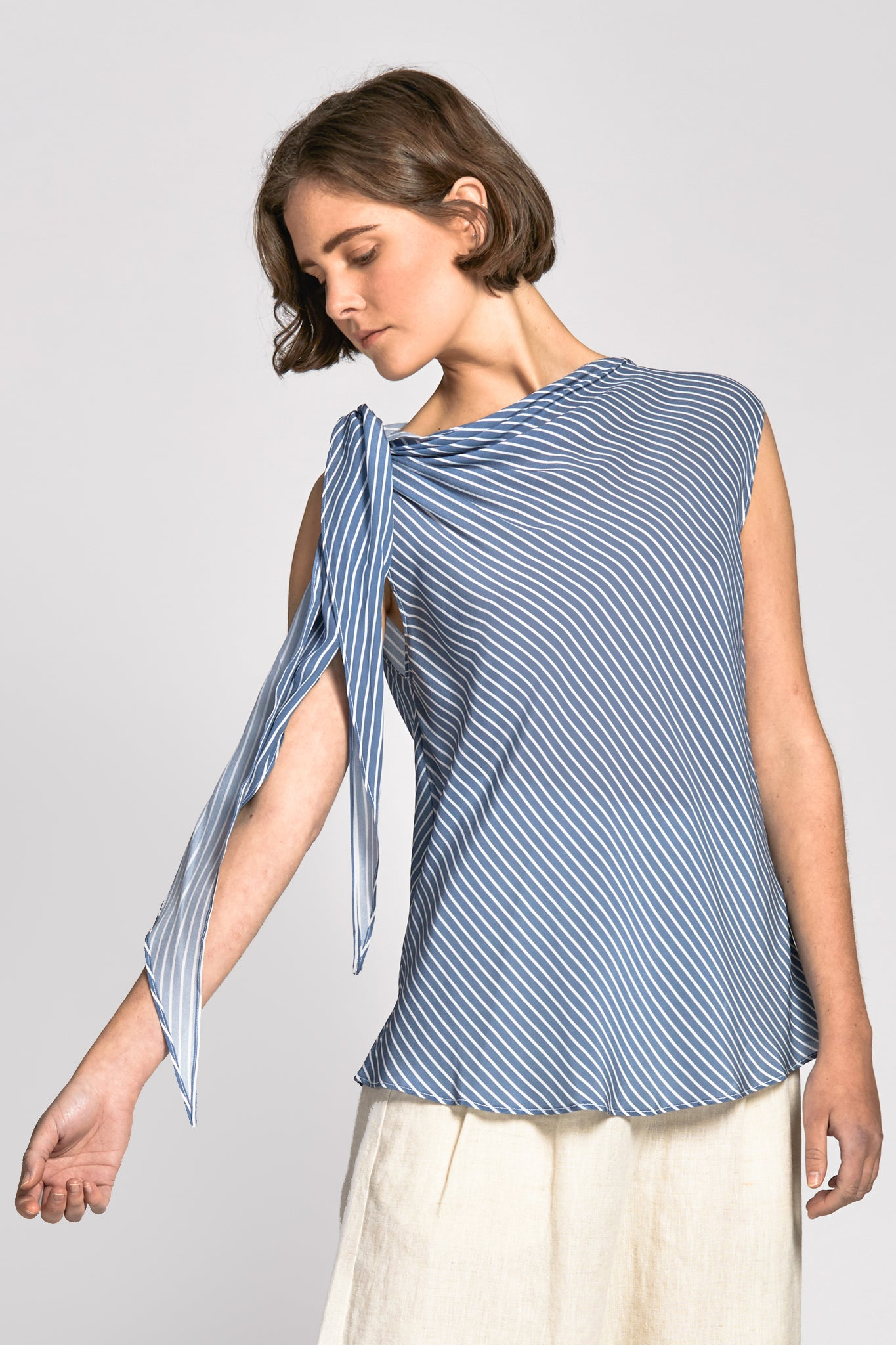 lam top blue stripe