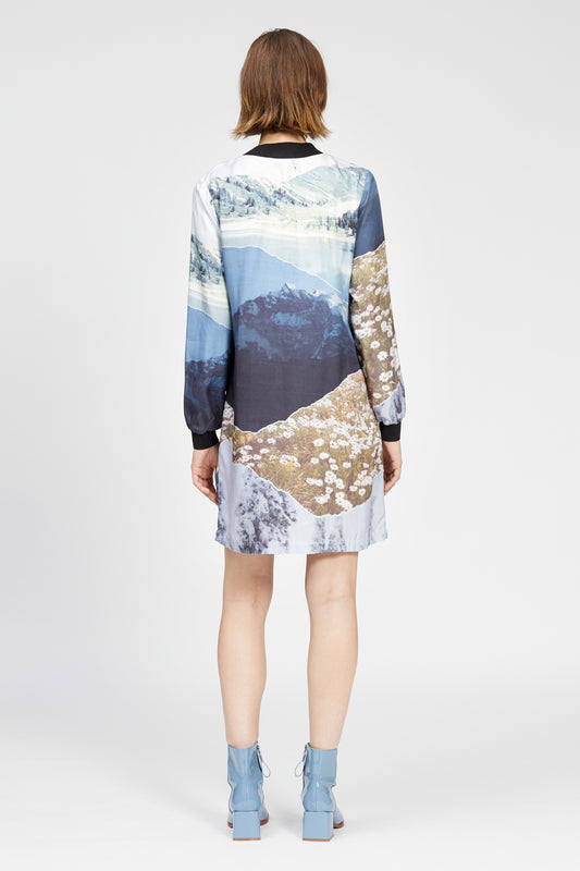 lavaredo dress mountain print