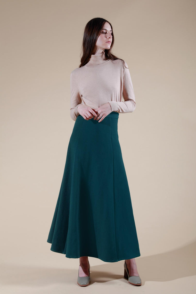 madeleine skirt dark green