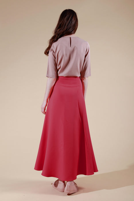 madeleine skirt red
