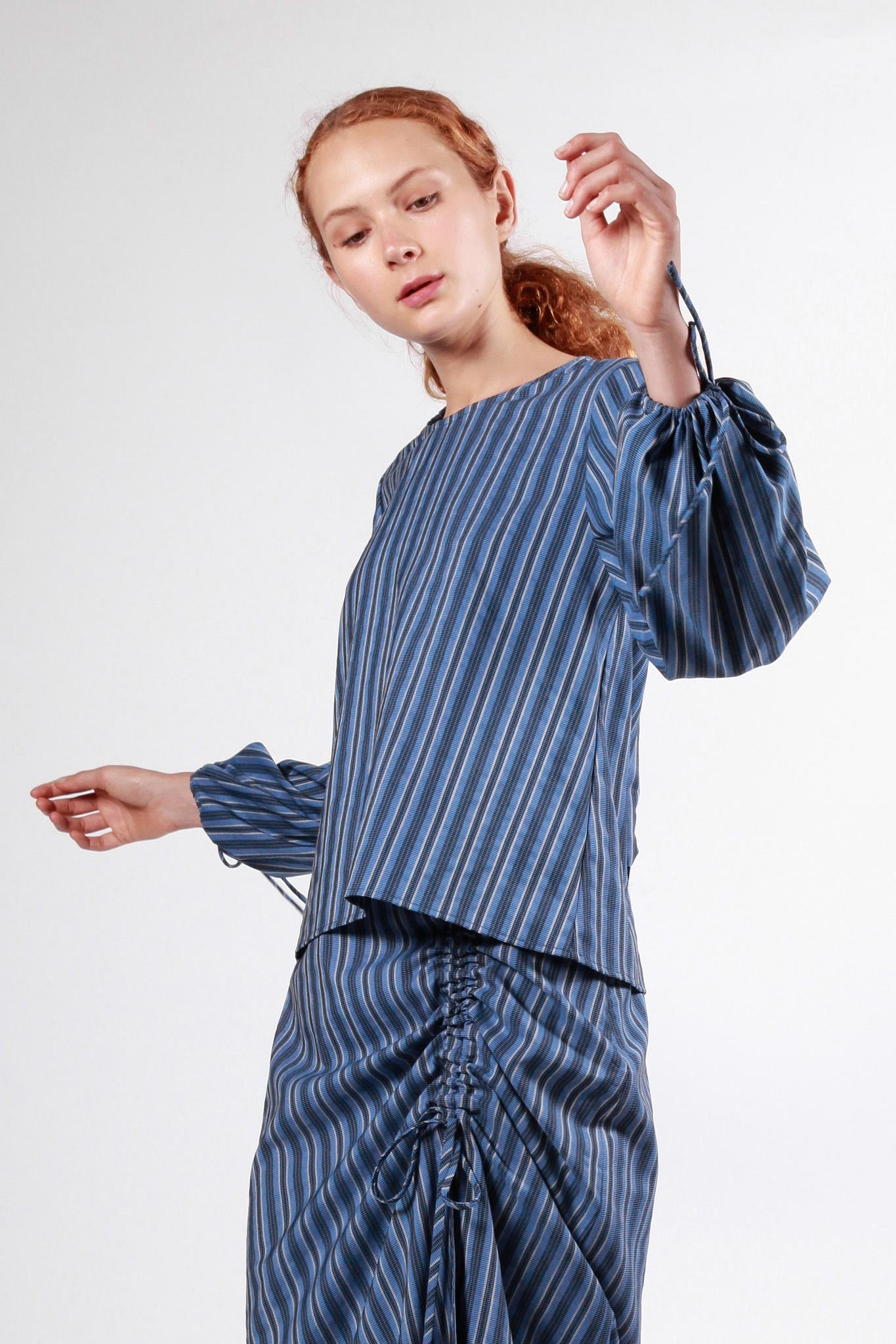 markree top blue stripe