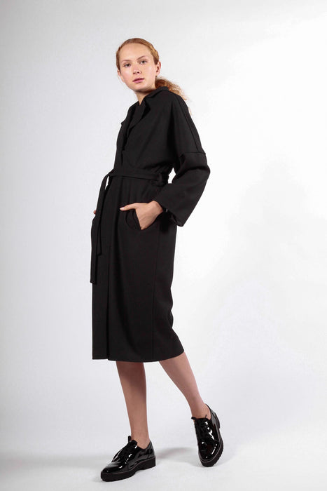 mawson coat black