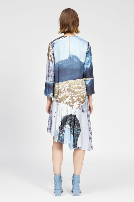 montagna dress mountain print