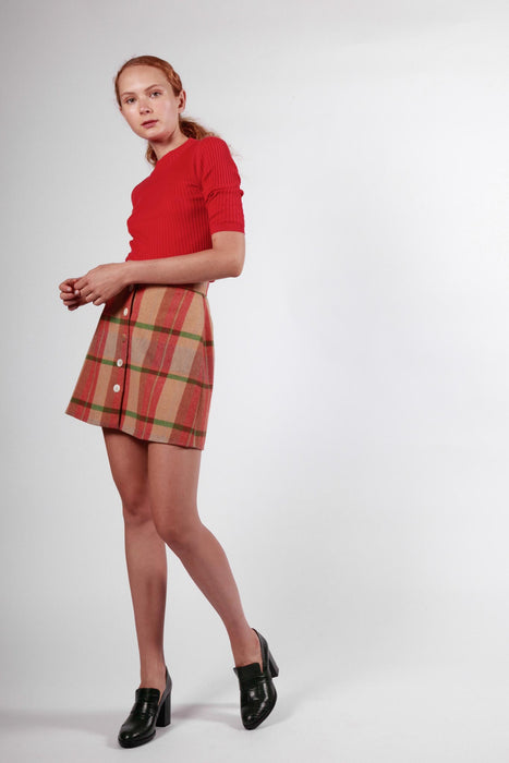 mures skirt orange check