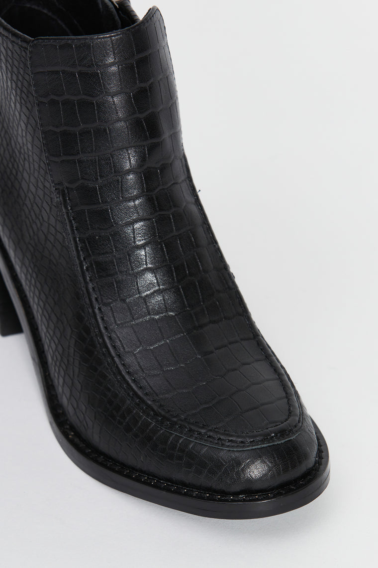 padeon boot black croc