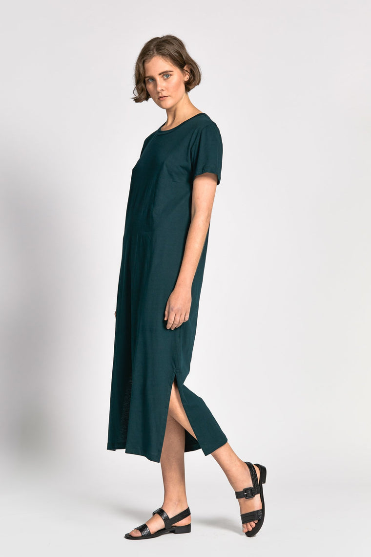 plage dress dark green