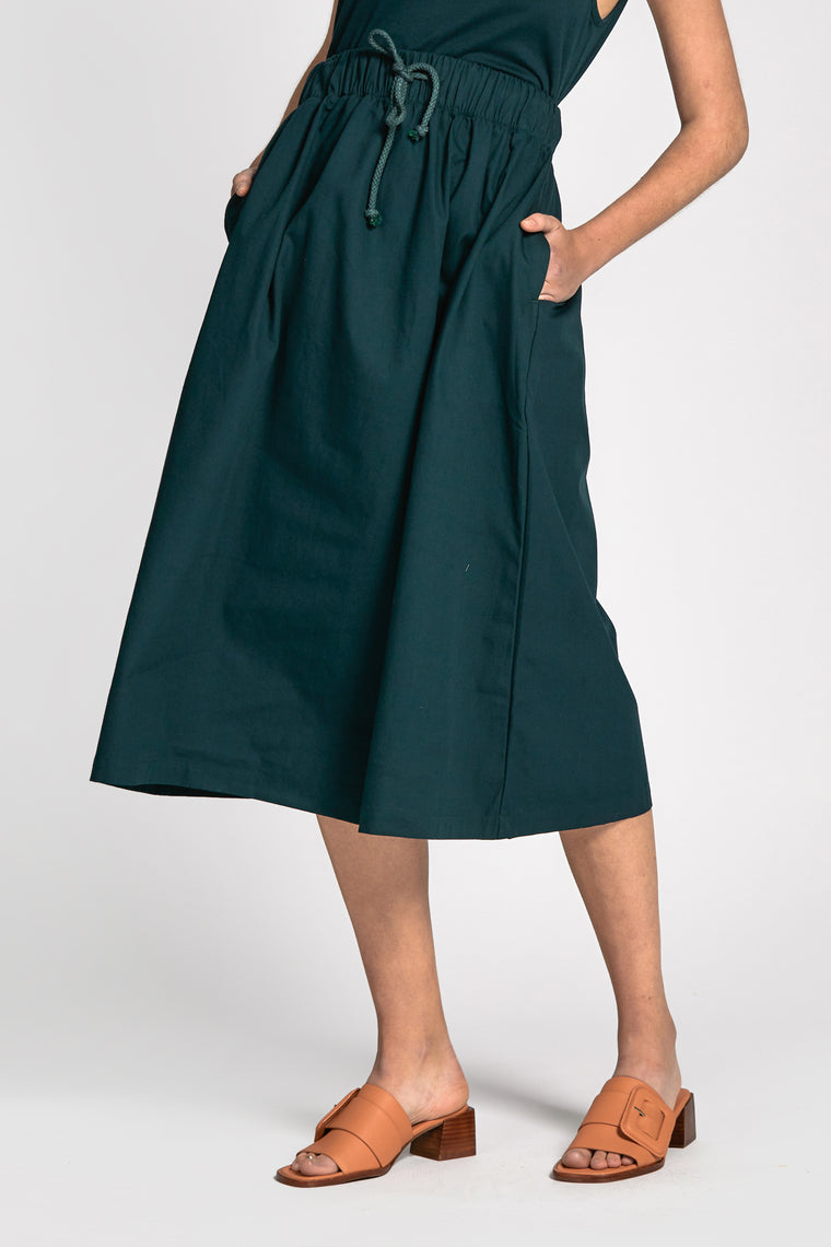 rolig skirt dark green