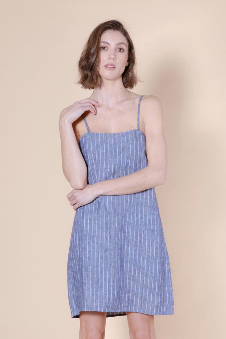 ruapuke dress blue/white stripe